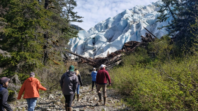 Hiking Up To Glacier