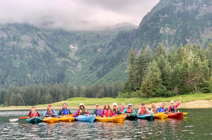 Group Kayaking In Alaska