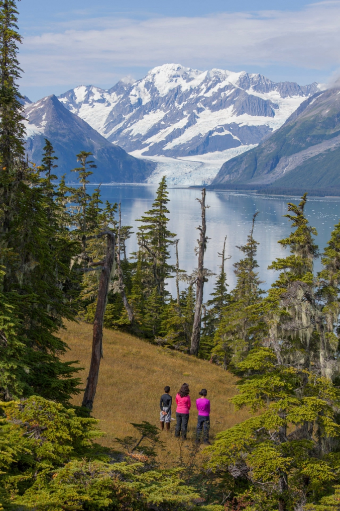 Family Hiking In Alaska