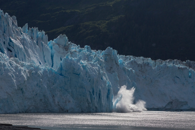 Summer Calving Glaciers In Alaska